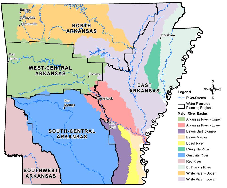 Little Red River Arkansas Map.2014 Awp River Basin Map